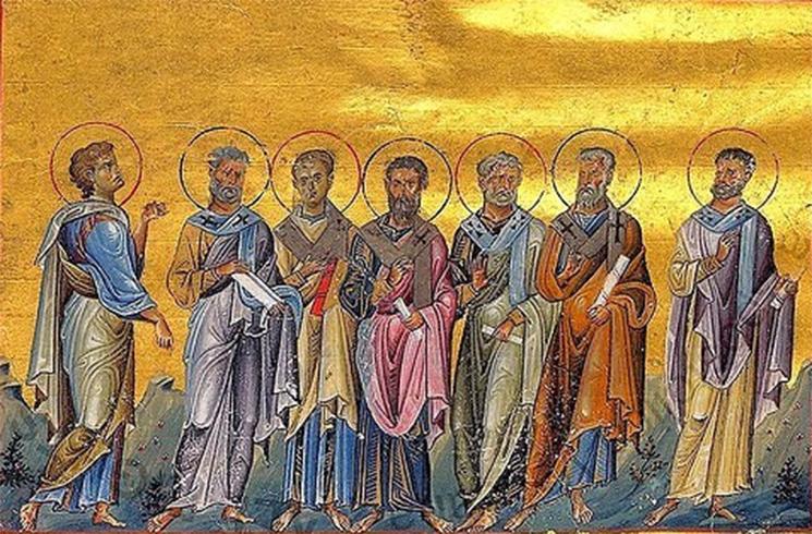 Сосфен, Аполлос, Кифа, Кесарь и Епафродит